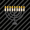 candles, jew, jewish, judaism, menorah, religion, religious