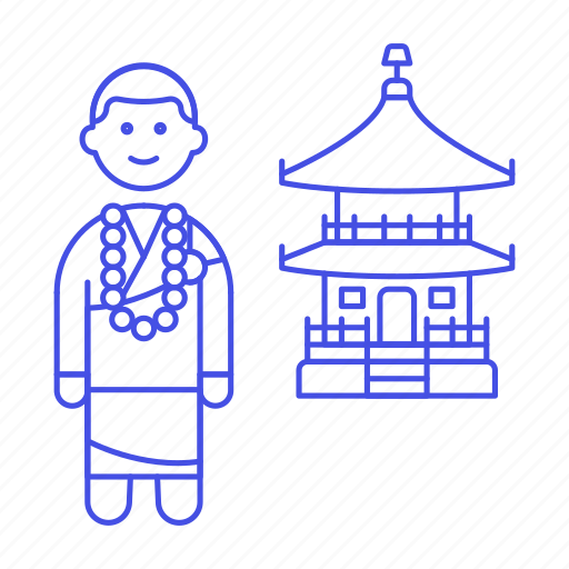 1, asian, beads, buddhism, buddhist, chinese, japamala, mala, monk, religion, temple icon