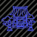 asian, building, japanese, lantern, religion, shrine, stone, temple, toro icon