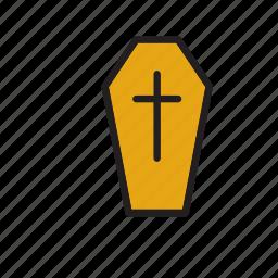 burial, caket, catholic, coffin, death, funeral, religion icon