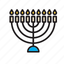 menorah, judaism, jew, jewish, candles, religion, religious icon