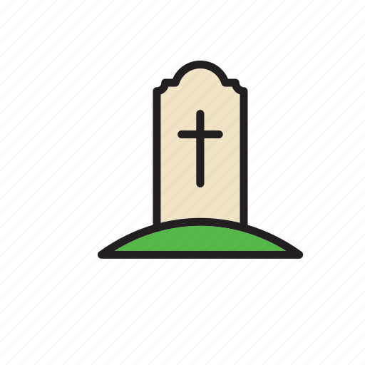burial, cross, death, funeral, grave, religion, tomb icon