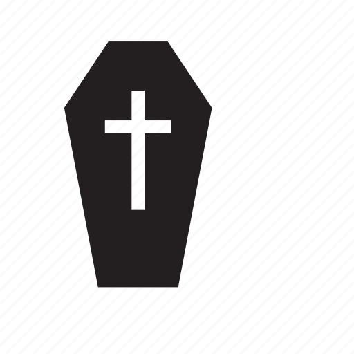burial, casket, coffin, cross, death, funeral, religion icon