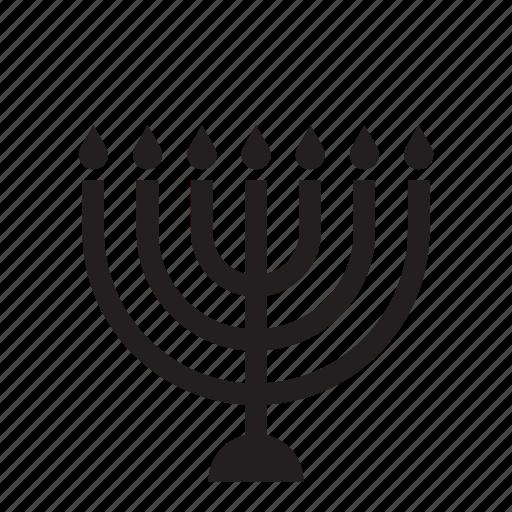 candles, jewish, judaism, menorah, religion icon