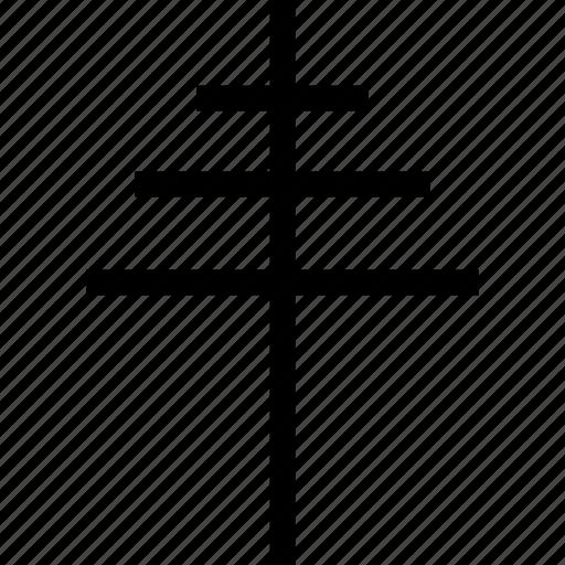 belief, cross, plain icon