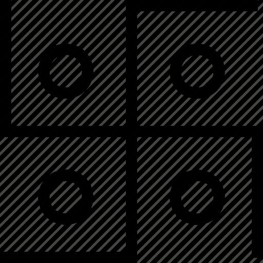 circles, cross, svastika icon