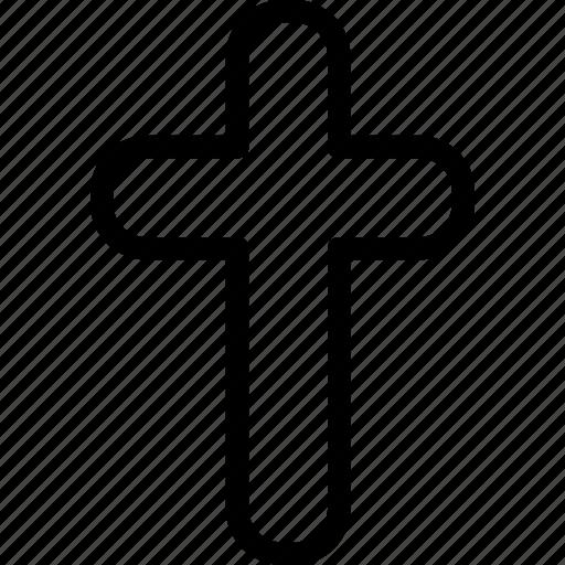 belief, christian, cross, plain icon