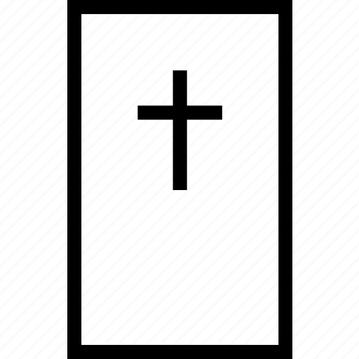 christian, christianity, cross, rectangle icon