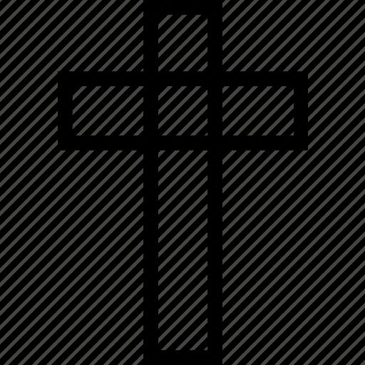 christian, christianity, cross, plain, religion icon