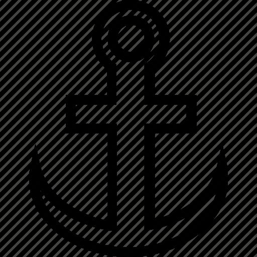 anchor, boat, sailing, ship icon