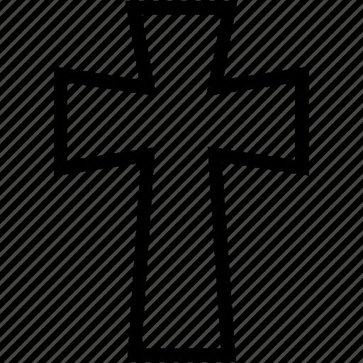 christian, cross, plain icon