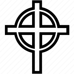 circle, cross, religion icon
