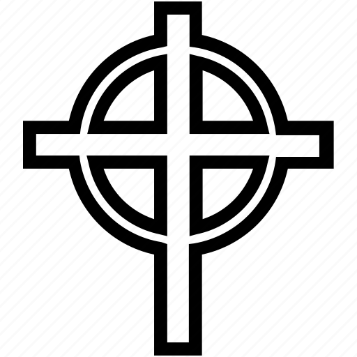 circle, cross, religion icon