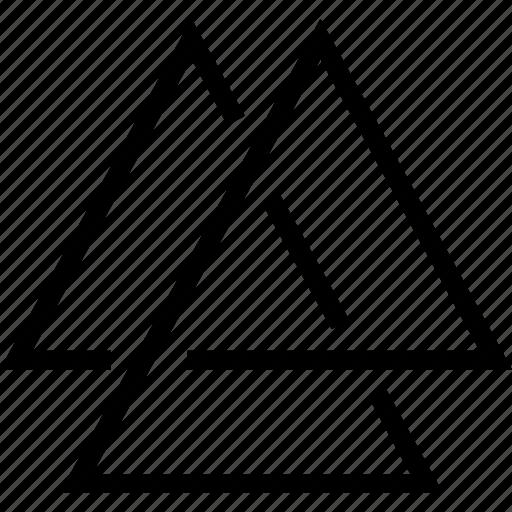 belief, geometry, religion, three, triangle icon