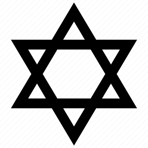 david, jewish, magen, religion, shield, star, synagogue icon