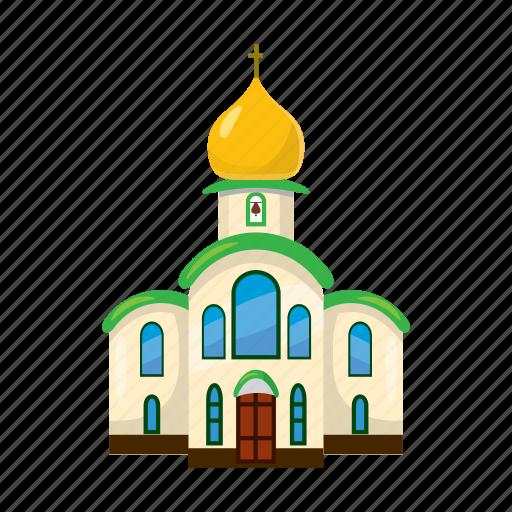 architecture, building, cartoon, chapel, christianity, church, religion icon