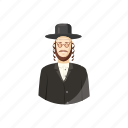 avatar, cartoon, jew, judaism, man, orthodox, religious
