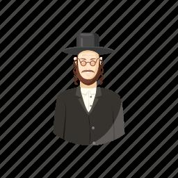 avatar, cartoon, jew, judaism, man, orthodox, religious icon
