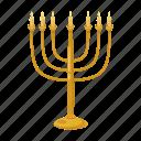 candlestick, cartoon, hanukkah, holiday, jewish, judaism, menorah icon