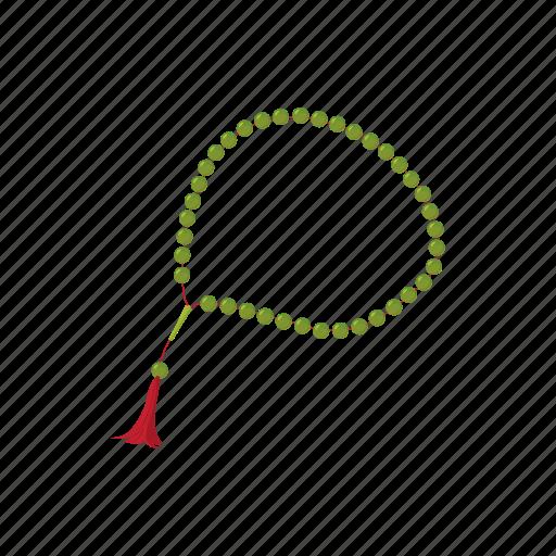 bead, cartoon, islam, muslim, pray, prayer, tassel icon