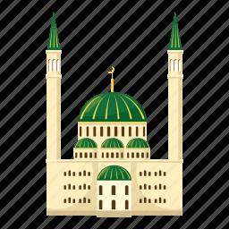 cartoon, islam, islamic, mosque, muslim, religion, religious icon