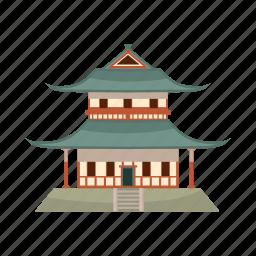 asia, buddhist, building, cartoon, china, pagoda, temple icon
