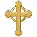 budded, catholic, christian, christianity, church, cross, crucifix icon
