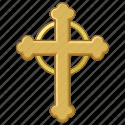 budded, catholic, christian, christianity, church, cross, crucifix icon