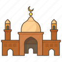 islam, mosque, muslim, religion, salat, temple, worship icon