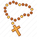 beads, catholic, faith, pray, prayer, religion, rosary icon