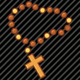beads, catholic, faith, pray, prayer, religion, rosary icon