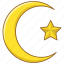 arab, crescent, islam, moon, muslim, turkey, turkish icon