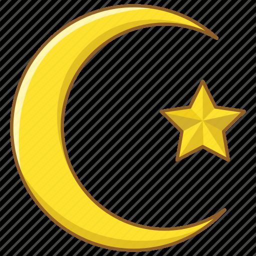 arab, crescent, islam, moon, muslim, turkey, turkish icon