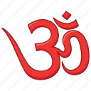 hindu, hinduism, jainism, om, sikhism, yoga icon