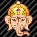 elephant, ganapati, ganesha, hindu, hinduism, jainism, vinayaka icon