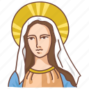 catholic, madonna, maria, marie, mary, saint, virgin icon