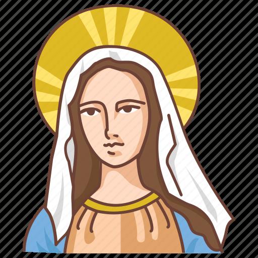 catholic, madonna, maria, marie, mary, saint, virgin icon