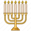 candles, celebration, hanukkah, holiday, jewish, judaism, menorah icon