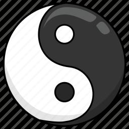daoism, tao, taoism, worship, yang, yin, yinyang icon