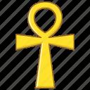 ankh, ansata, coptic, crux, egypt, pharaoh, seal icon