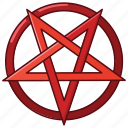 devil, pagan, pentagram, satan, satanic, satanism, star icon
