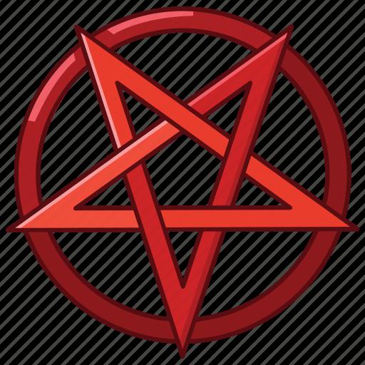 devil, pagan, pentagram, satan, satanic, satanism, star icon
