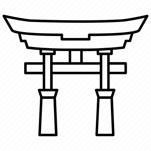 gate, japanese, kami, religion, shinto, shintoism icon