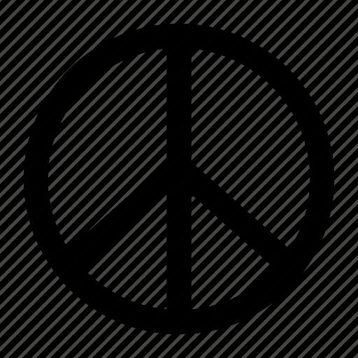 broken cross, peace, peaceful, sign icon