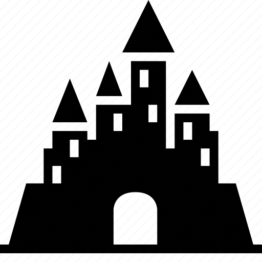 amusement park, castle, disney, entertainment, haunted castle, palace, wonderland icon