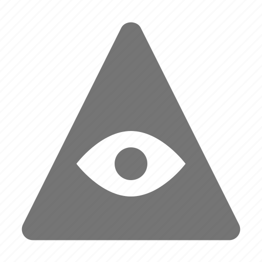 eye, pyramid, religion, spirituality, triangle icon