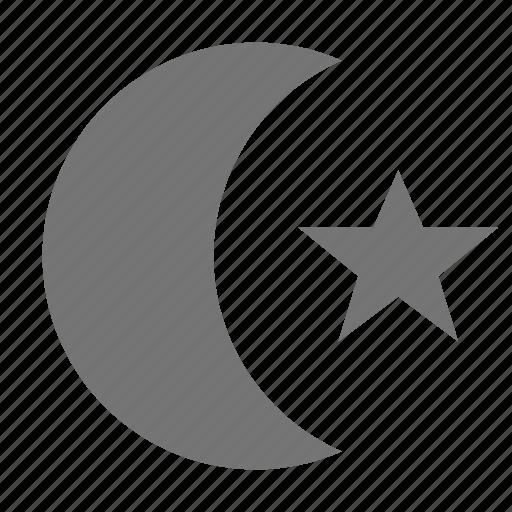 islam, moon, religion, spirituality, star icon