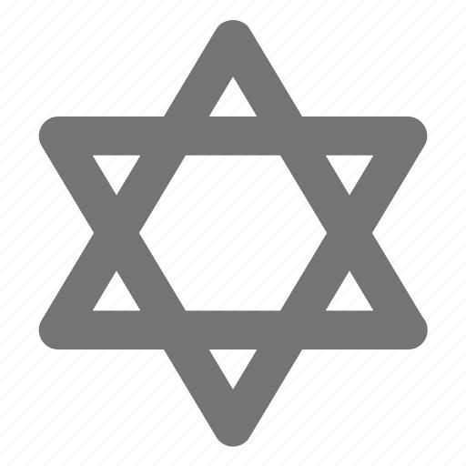 judaism, religion, spirituality, star icon