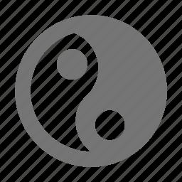 religion, spirituality, ying yang icon