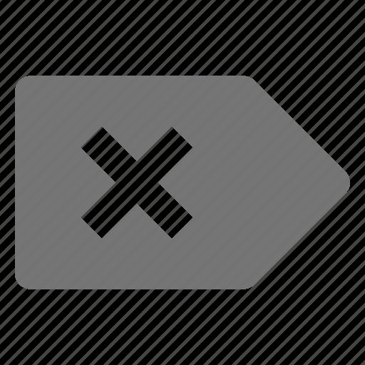 delete, remove, stop, tab icon